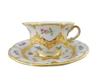 マイセン金彩のカップ&ソーサー