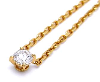 傷有りダイヤモンドネックレス