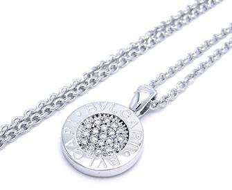ブルガリブルガリネックレスWGダイヤモンド