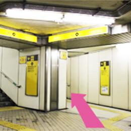 地下鉄谷町線都島駅の4番出口へ