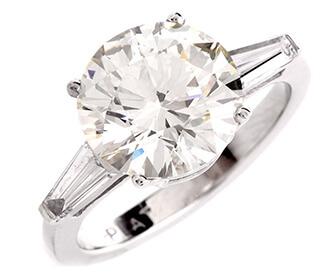 ダイヤモンド3.08ctプラチナリング