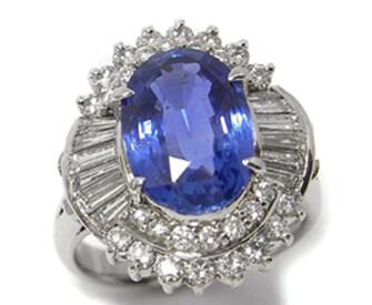プラチナサファイアダイヤモンドリング