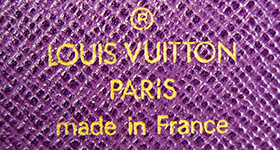 ブランドロゴ紫