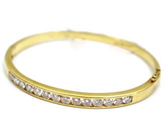 金無垢ダイヤブレス