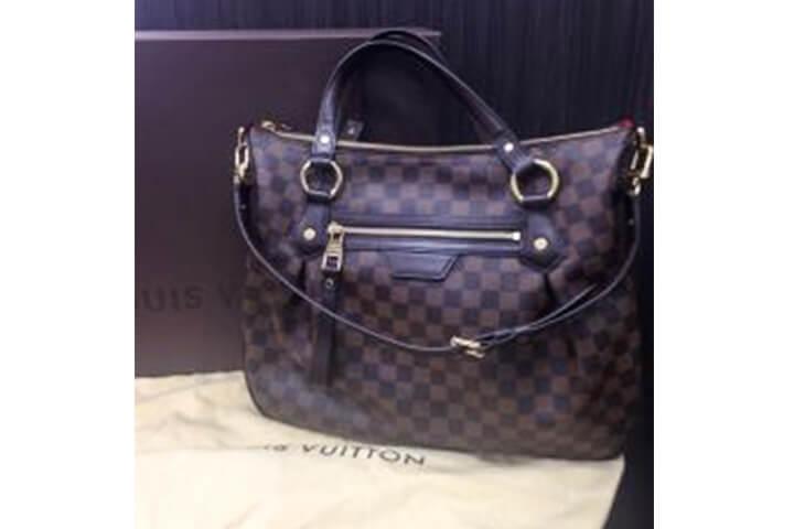 寝屋川市でヴィトンのバッグ、ダミエのイーヴォラMMを買取【大阪ブランド出張買取】