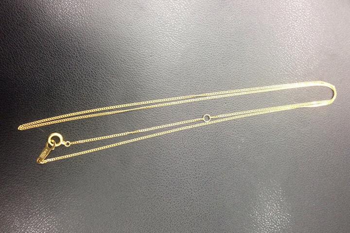 【都島貴金属買取】K18金イエローゴールドのネックレスをお買取