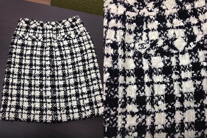 シャネルのツイードスカートを買い取りました☆