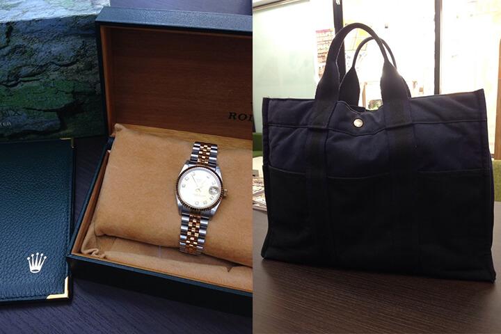 兵庫県のお客様よりロレックスの腕時計とエルメスのバッグを買取|都島店