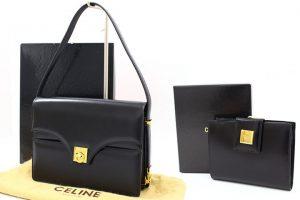 セリーヌのヴィンテージカーフ バッグと財布をお買取☆-吹田江坂店