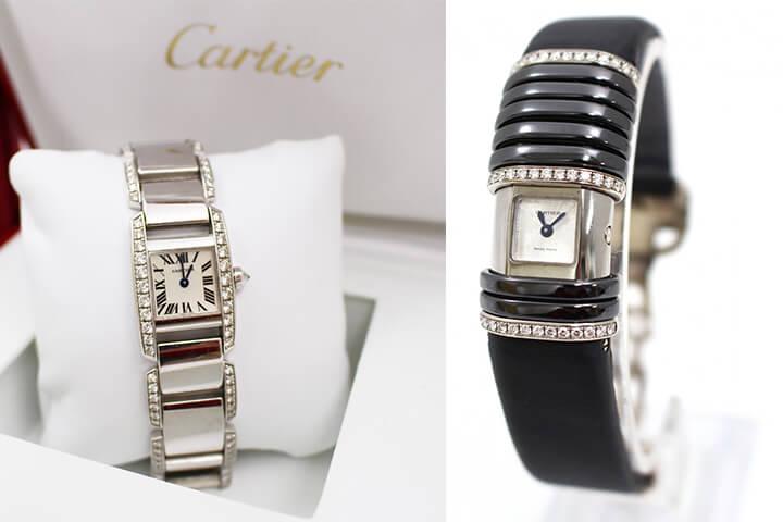 カルティエ腕時計を複数買取