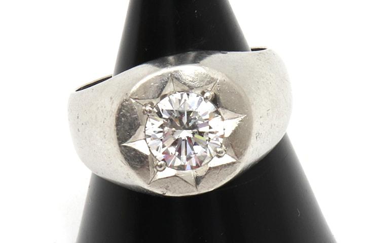 1カラットの一粒ダイヤモンド買取しました