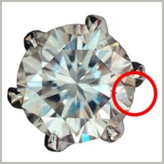 ダメージやカケがあるダイヤ