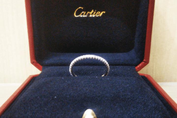 大阪市西区のお客様からカルティエダイヤリングを買取!