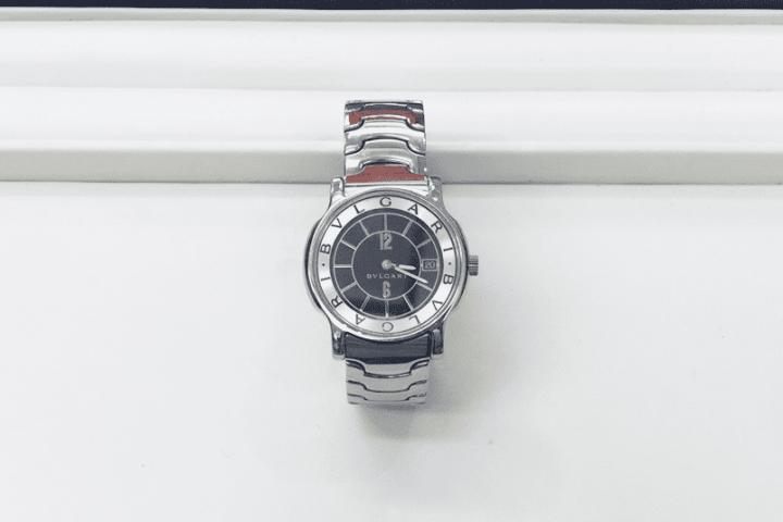 都島店にて旭区のお客様よりブルガリの腕時計ソロテンポ高価買取!