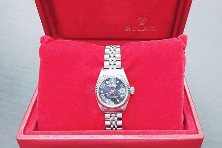 都島店にてロレックスの腕時計レディースデイトジャストを高額買取
