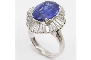 梅田店|サファイア&ダイヤモンドプラチナリングを高価買取しました