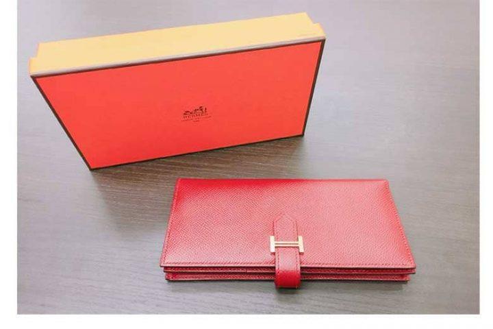 都島店にて美品エルメスの長財布ベアンスフレを高価買取しました!