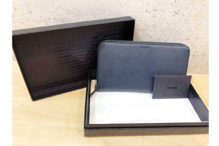 梅田店にてプラダのサフィアーノラウンドファスナー財布を高価買取