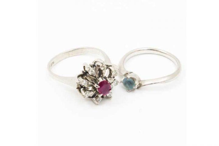 豊中市庄内のお客様より石付きプラチナリング(指輪)を2点高価買取