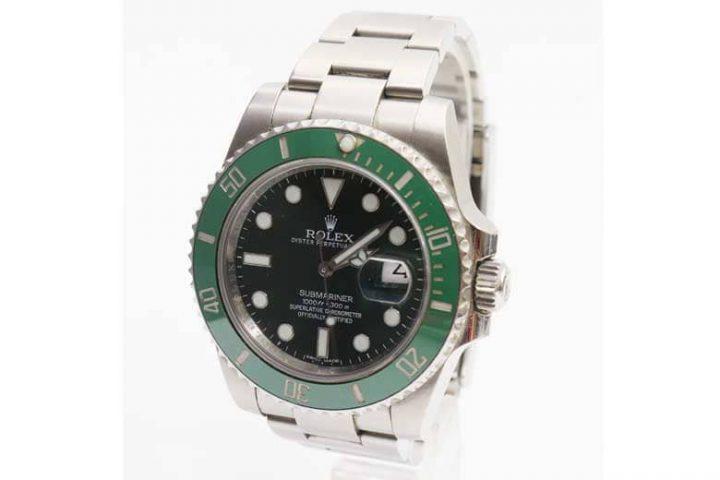 八尾市のお客様からロレックスの腕時計 グリーンサブを高価買取!