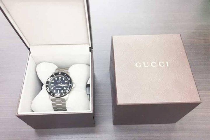 豊中市のお客様より吹田江坂店でグッチ時計Gタイムレスを高価買取!