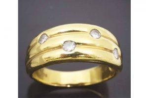 貴金属K18・18金ダイヤ付きリング高価買取|東三国のお客様