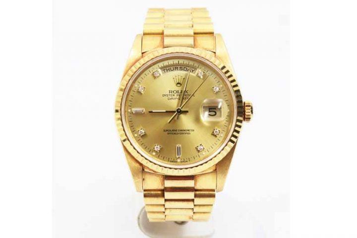 吹田江坂店にてロレックスの金無垢時計デイデイトを高価買取!