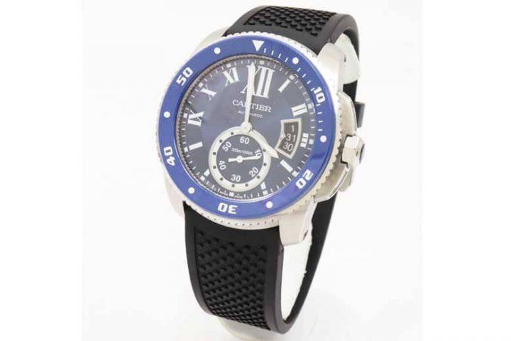カルティエの時計カリブルダイバーを高価買取/兵庫県西宮市のお客様