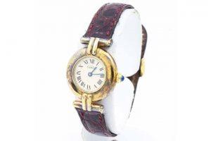 十三のお客様よりカルティエ時計マストコリゼヴェルメイユ買取|梅田北新地店