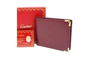 宅配買取にてカルティエのマストライン二つ折り財布を高価買取
