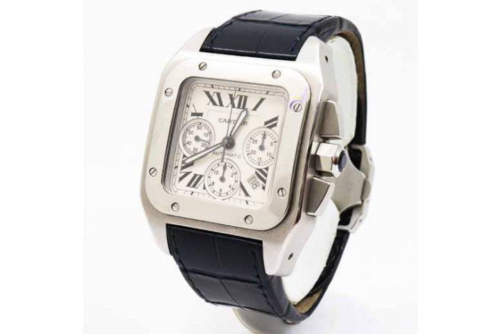 梅田北新地店にてカルティエの時計サントスを高価買取 阿波座のお客様