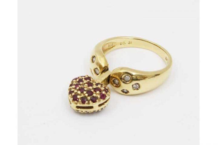 千林大宮のお客様よりK18ダイヤモンド&ルビーリングを高価買取!
