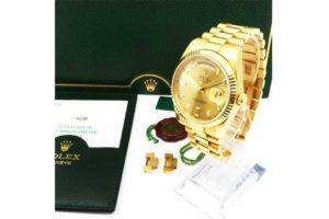 ロレックスの時計デイデイト10Pダイヤを高価買取/西宮市のお客様