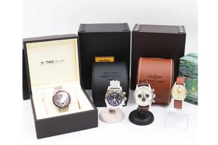 出張買取 ブライトリング、タグホイヤー、ロレックスの時計を買取